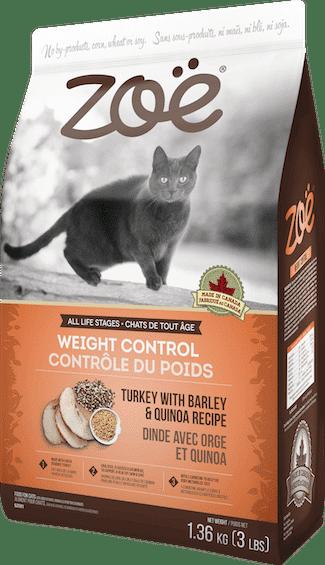 זואי, מזון בריאות לייט לחתול בטעם הודו וקינואה