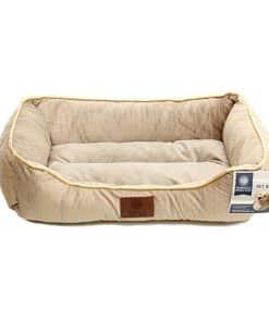 מיטה מלבנית מבד קטיפה