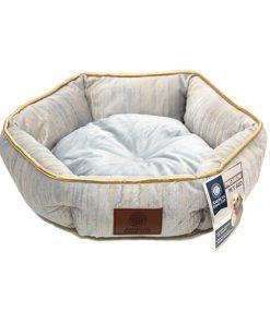 מיטה משושת מבד קטיפה